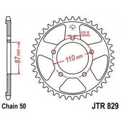 Corona 47T JT 829 de acero
