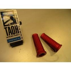 Juego de estriberas aluminio. Rojo