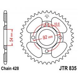 Corona 46T JT 835 de acero Yamaha