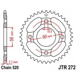 Corona 31T JT 272 de acero