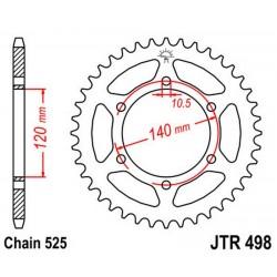 Corona 38T JT 498 de acero