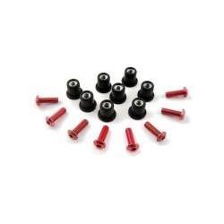 Kit tornilleria para cupulas Aluminio Rojo