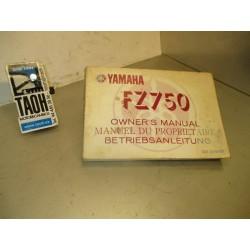Manual del propietario FZ 750 88-92