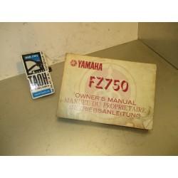 Manual del propietario FZ 750 86