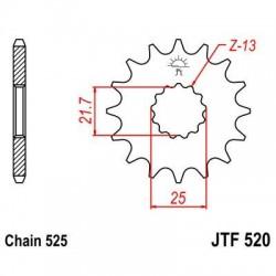 Piñón 14 Dientes JTF 520.14